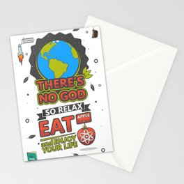 There's no God poster Stationery Cards
