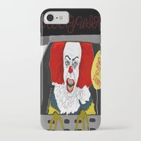 pennywise iPhone & iPod Cases featuring Pennywise AKA The Clown by ItalianRicanArt