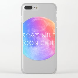 Stay Wild Moon Child v2 Clear iPhone Case