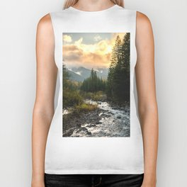The Sandy River I - nature photography Biker Tank