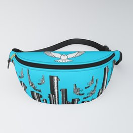 Peace of the Action BLUE / Peace concept Fanny Pack