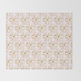 Rose Gold Watercolor Tile Throw Blanket