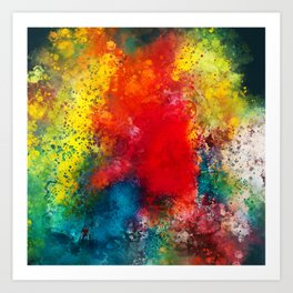 On the bright side - Colorful abstract watercolor Art Print