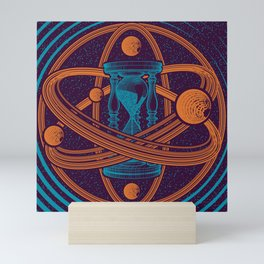 Time Infinity Planet System With Cosmos Sandglass Mini Art Print
