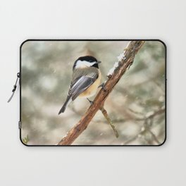 Clinging Chickadee Laptop Sleeve
