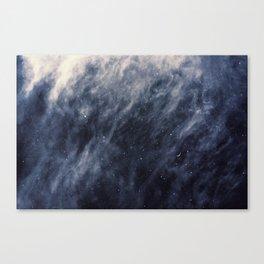 Blue Clouds, Blue Moon Canvas Print