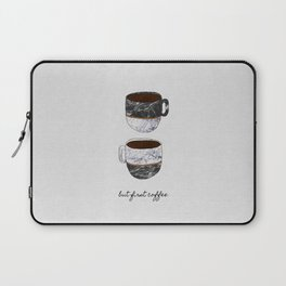 But First Coffee, Coffee Quote Laptop Sleeve
