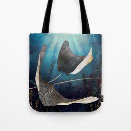Metallic Stingray Tote Bag