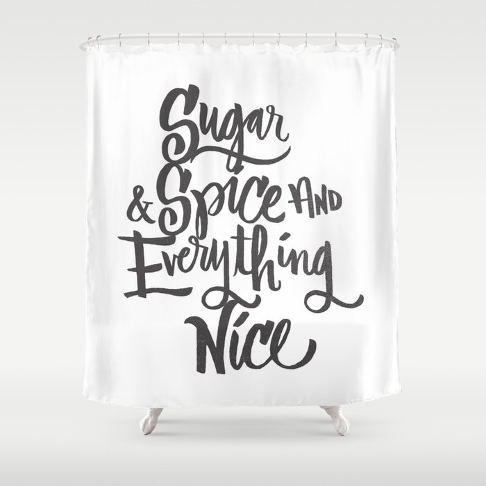 SUGAR SPICE Shower Curtain