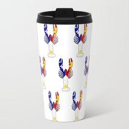 Peace Love & Crawfish allover Travel Mug