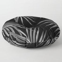 Silver Gray Black Palm Leaves Dream #1 #tropical #decor #art #society6 Floor Pillow