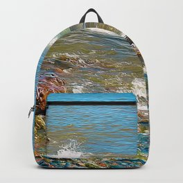 North Shore Waves 3 Backpack
