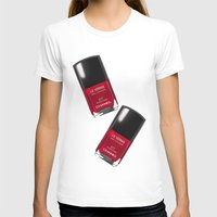 nail polish T-shirts featuring Nail Polish Rouge Rubis by BeckiBoos