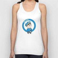 police Tank Tops featuring Police by Emir Simsek