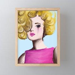 The Blonde Framed Mini Art Print