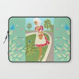 Brisk Spring Day With A Friendly Face Laptop Sleeve
