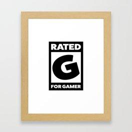 Rated G for gamer Framed Art Print