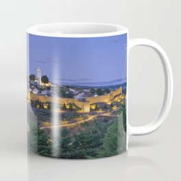 Braganca castle and town at dusk, Portugal Coffee Mug