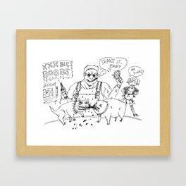 """""""Dookie Nukem"""" lineart (Farts 'N' Crafts episode 1) Framed Art Print"""