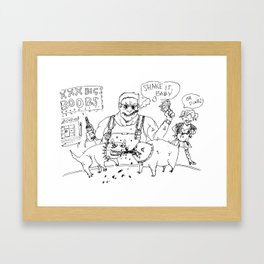 """Dookie Nukem"" lineart (Farts 'N' Crafts episode 1) Framed Art Print"