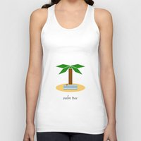 palm tree Tank Tops featuring Palm Tree by Veronica Grande