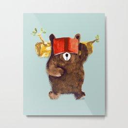 No Care Bear - My Sleepy Pet Metal Print
