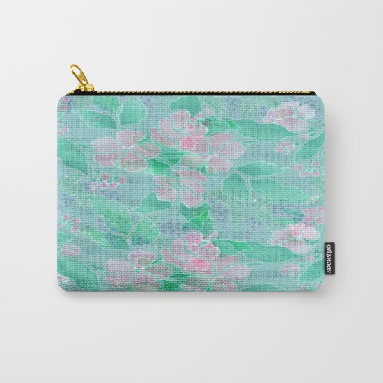 Soft Spring Floral Carry-All Pouch