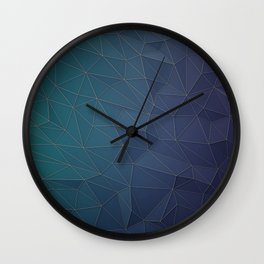 Elegant Low Poly Web Wall Clock