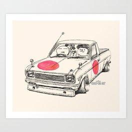 Crazy Car Art 0169 Art Print