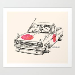 Crazy Car Art 0169 Art Print