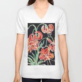 Tiger Lily Unisex V-Neck
