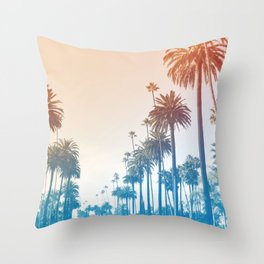 Summer in LA Throw Pillow