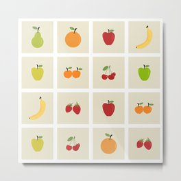 AFE Fruit Grid Metal Print