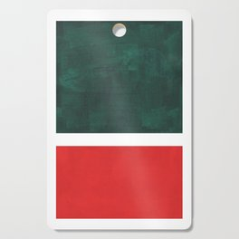 Phthalo Green Red Minimalist Abstract Colorful Minimalist Color Field Color Block Pattern Cutting Board