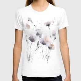Florals in dust purple and blush pink T-shirt