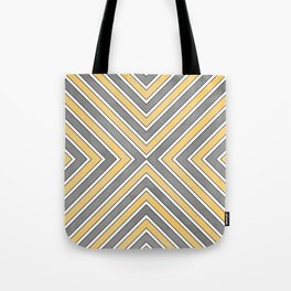Stripes in Grey and Yellow-bold Tote Bag