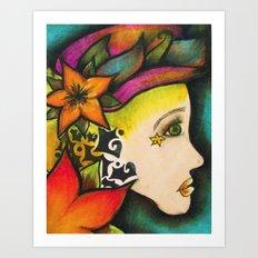 Nicole (Flower) Art Print
