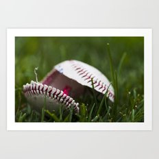 Broken Baseball  Art Print