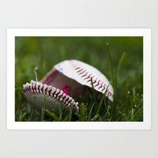 Broken Baseball  Art Print