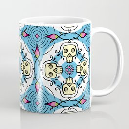 Skulls and Roses - symmetrical pattern  Coffee Mug