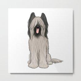 Cute Briard Cartoon Dog Metal Print