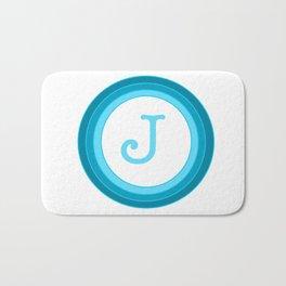 Blue letter J Bath Mat