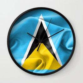Saint Lucia Flag Wall Clock