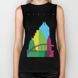 Shapes of Austin. Accurate to scale. Biker Tank