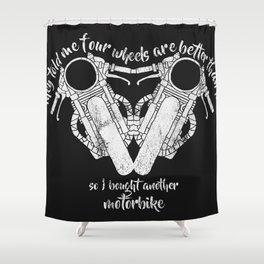 four wheels Shower Curtain