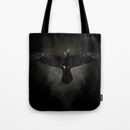 Black raven, crow flight Tote Bag