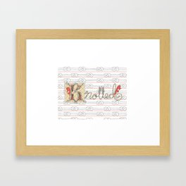 Knotted Word Framed Art Print