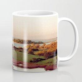 Block Island, Rhode Island Autumn Salt Ponds and Coast Guard House Coffee Mug