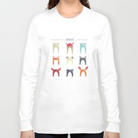hats Long Sleeve T-shirts featuring Animal Hats by Celosa Art
