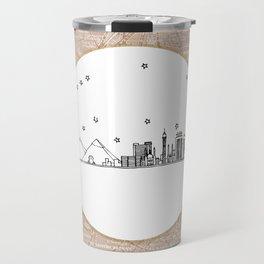 Cairo, Egypt (Giza), Africa City Skyline Illustration Drawing Travel Mug